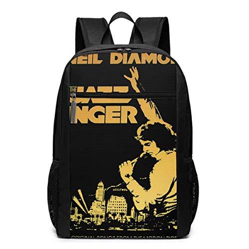 ZYWL Neil Diamond 17 \'\' Klassische multifunktionale Rucksack-Computertasche mit hoher Kapazität Schwarz