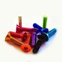 Msltely Paneel Schroeven 10 st M4 M5 M6* 8/10/12/16/20/25 Kleurrijke Aluminium Platte Schroeven Platte Hex Socket Verzonke...