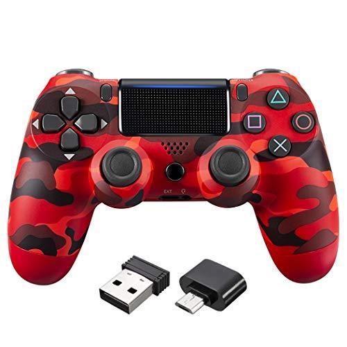 Dr.Lefran PS4 Wireless Gamepad Controller, Wiederaufladbarer Game Controller Bluetooth Vibration Gamepad, Unterstützung Gyro Motion, Dual Vibration, Multiplayer, B6