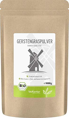BIO Gerstengraspulver 1000g | Gerstengras gemahlen | 100% naturrein | bioKontor