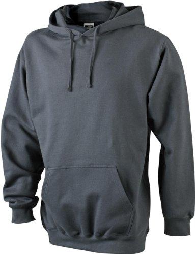 James & Nicholson - Kapuzen Sweatshirt 'Hooded Sweat' - Auslaufmodell!! XXL,Graphite