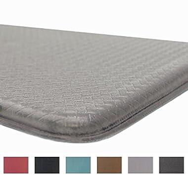 Rochelle Collection Premium Anti-Fatigue Comfort Mat. Multi-Purpose Decorative Non-Slip Standing Mat for the Kitchen, Bathroom, Laundry Room or Office. By Home Fashion Designs Brand. (Dove Grey)