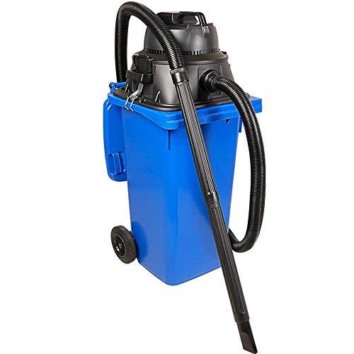 BRB Nass- /Trockensauger/Industriesauger 1100 Watt, mit 120 Liter Behälter (DIN Mülltonne) blau