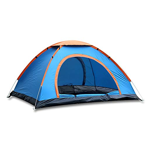 Outraveler Pop Up Tent Instant Automatic Install Camping Tent for Hiking, Traveling, Backpacking, Outdoor, Carrying Bag (Blue)