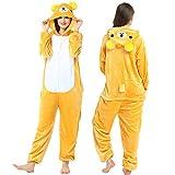 Pijama Entero Mujer con Pijamas De Animales Onesie Todo En Uno Amarillo Osito