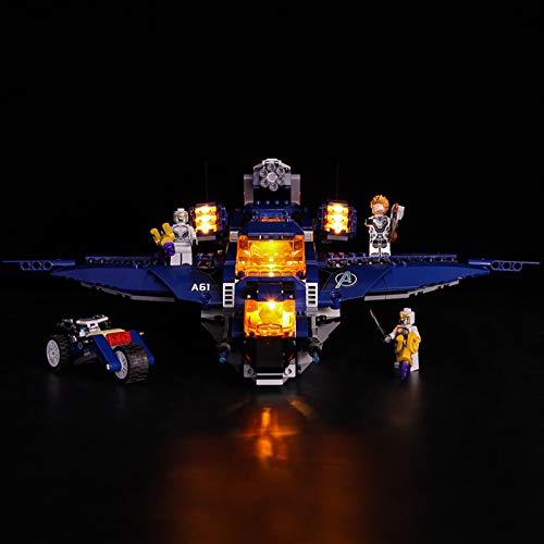 Led Beleuchtungsset Für Lego Super Heroes Ultimativer Avengers Quinjet, Kompatibel Mit Lego 76126 Bausteinen...