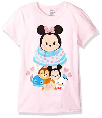Disney Little Girls' Tsum Tsum T-Shirt, Light Pink, S-4