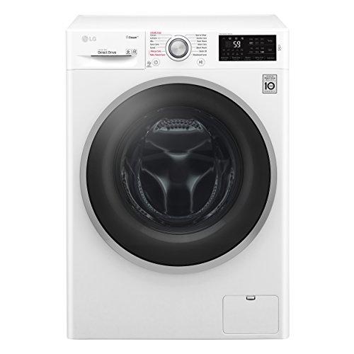 LG F4J6TY1W lavatrice Libera installazione Caricamento frontale Bianco 8 kg 1400 Giri/min A+++-30%