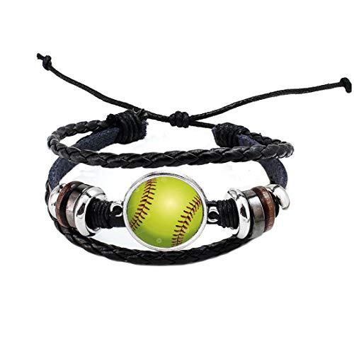 Pulsera de béisbol de plata simple minimalista bola deporte equipo softball encantos pulsera,Joyería de fanáticos de béisbol,PU013