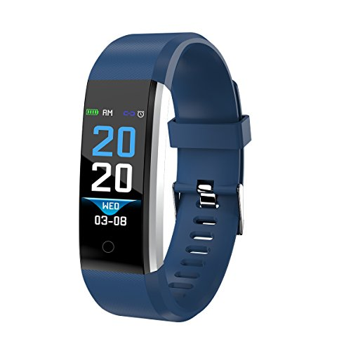 Denver Fitnesstracker 'BFH-16' mit Herzfrequenzmesser und Schrittzähler, Blau