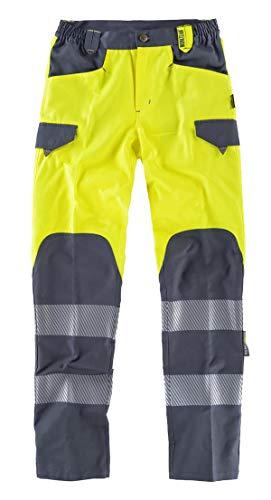 WorkTeam Pantalón de Alta Visibilidad, Multibolsillos, Combinado con Cintas Reflectantes Discontinuas y...
