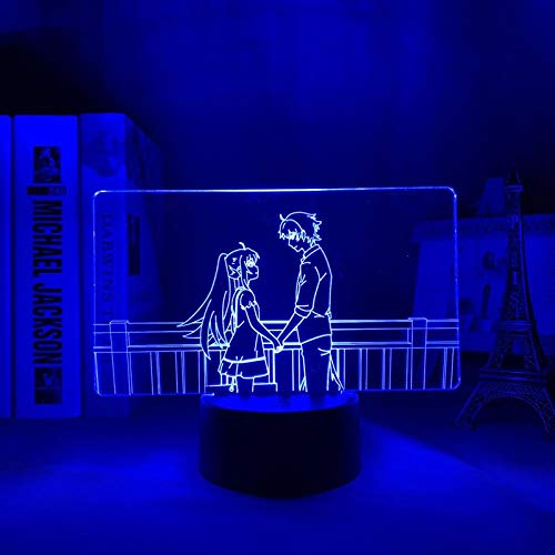 MAOJIE 2021 - Lámpara LED de noche para decoración de dormitorio, diseño de anime, 3D