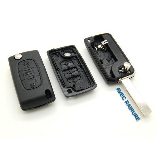 Sleutelbehuizing met 3 knoppen, optiek, knop voor kofferbak.