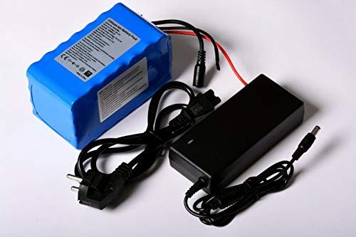 Aftertech® - Paquete de batería de 24 V, 24 V, pico de 15 A, recargable, de alta calidad, de litio, para bicicleta eléctrica 24V 10AH 140x74x70mm F1C1