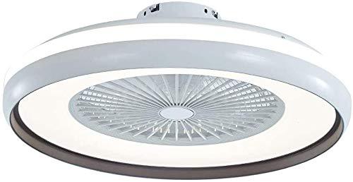Ventilador de techo con kit de luz, control remoto LED Semi Flush Mount Fandelier con hojas acrílicas invisibles, 3 colores 3 Velocidades Cambio, Ventilador de perfil bajo cerrado, Ventilador de inter
