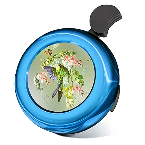 BESTBLING Parrot Bird Bike Bell Classic Aluminum Bicycle Bell Loud Crisp Clear Sound Cycling Bells Horn Adjustable Bicycle Horns Fits All Handle Bar Accessories Road Bike Mountain Bike-Blue