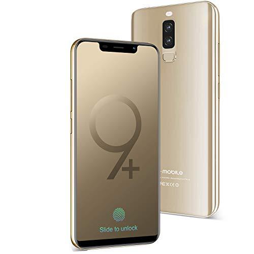 Smartphone Pas Cher 4G S9+(Écran:5.84 Pouces – 3GB RAM+16GB ROM – Téléphone Débloqué 4300mAh Batterie 13MP Camera Double SIM – Android 8.1 Quad Core Téléphone Portable Pas Cher sans Forfait) (Or)