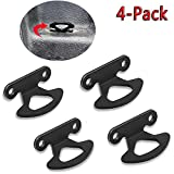 MOEBULB 4-Pack Tie Down Hooks Compatible for 2000-2017 Ford Tie Down Anchors F150 Styleside 2004-2017 & Explorer Sport Trac 2001-2010 Bed Inner Hook Kits
