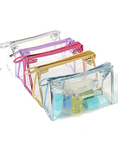 DAYAN Imperméable Carry Case Voyage Portable Maquillage titulaires en Vinyle Transparent à Fermeture éclair Sac cosmétique
