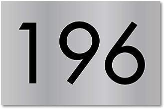 Huisnummerbordje RVS-Look | 15x10 cm