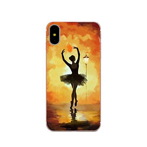 Zachte hoes voor iPhone 4 4S 5 5C 5S SE 6 6S 7 8 Plus X XS Max XR Ballet Ballerina Ballet Slippers, For iPhone 6, Als afbeelding