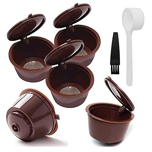 Reutilizable Dolce gusto Cápsulas,Para Cafetera cápsulas:Nescafé,Mini Me,Piccolo,Genio,Esperta and Circolo,Filtro para Tazas,Con Cuchara y Cepillo
