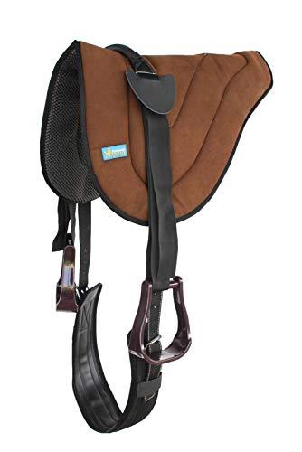 Professional Equine Challenger Horse Western Suede Leather Neoprene Bareback Saddle Pad 39187BR