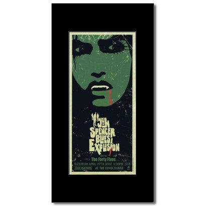 JON SPENCER BLUES EXPLOSION - Echo Lounge Atlanta Ga 2002 Mini Poster - 26.4x12.2cm