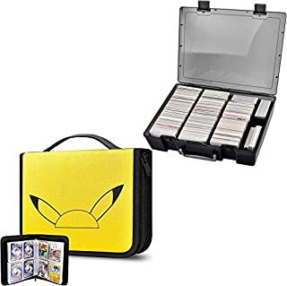 ALKOO Trading Card Binder Holds 480 Cards & 2200+ Card Case Holder Compatible with Pokemon/ Cards Against Humanity/Magic T...