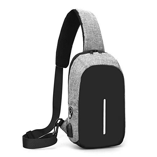 iShiné Zaino a tracolla, per uomo o donna, leggero, per escursionismo e viaggi, con porta di ricarica USB