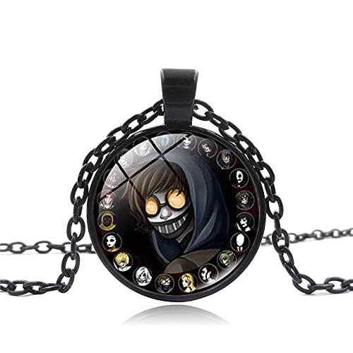 Heiße Verkaufende Milfs Halskette Jeff Killer Horror Muster Anime Glaskuppel Anhänger Lange Halskette Fans Gothic Schmuck