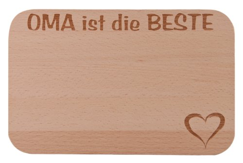 FABRIKSTORES GmbH Frühstücksbrettchen/Frühstücksbrett mit Gravur Oma Holz - Geschenkidee ideal zum Geburtstag oder zu Weihnachten