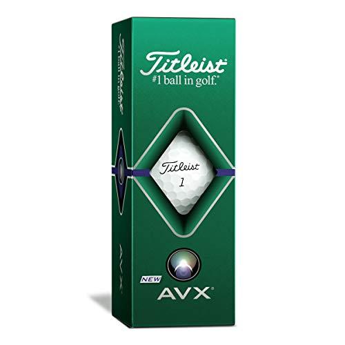 TITLEIST AVX - Juego de 3 pelotas de golf (manga de 3 pelotas de golf), modelo 2020