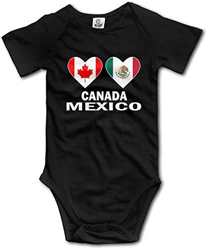 DODOD Canada Mexico Hearts Body para bebé recién Nacido Body de algodón de Manga Corta para bebés