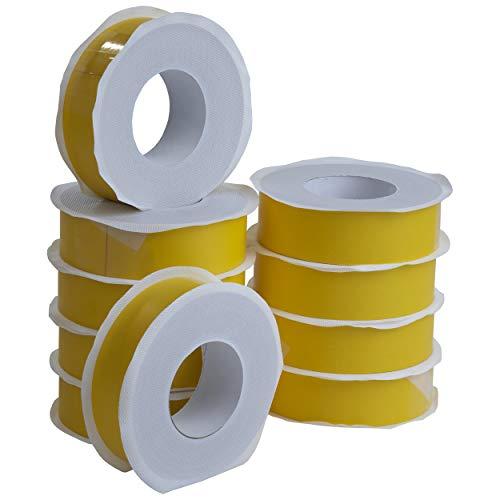 8x Steifes Dampfbremsklebeband gelb 50mm x 40m