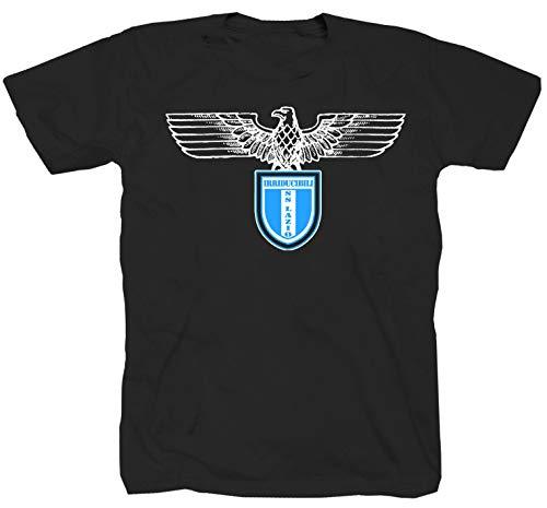 Blue is The Colour Ultras Rom Fussbal Calcio Italien schwarz T-Shirt (M)