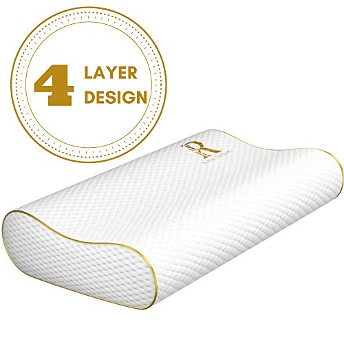 Royal Therapy Layer Memory Foam Pillow, Neck Pillow Bamboo Adjustable Side Sleeper Pillow for Neck &...