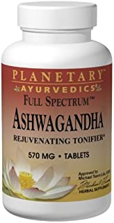 Sponsored Ad - Planetary Herbals Ashwagandha Full Spectrum by Planetary Ayurvedics 570mg, Rejuvenating Tonifier, 120 Tablets