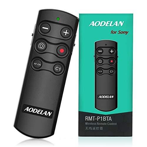 AODELAN Disparador inalámbrico para cámara de control remoto para Sony ZV-1, A7SM3, A7C, A7RIV, Alpha 9,7R IV, 7R III, 7 III, 6600, 6400, 6100, 9 II, RX0 II, RX100 M7; responde Sony RMT-P1BT