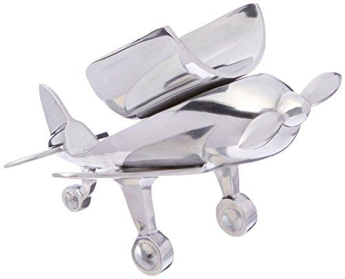 GODINGER SILVER ART Airplane Bottle Holder, Silver