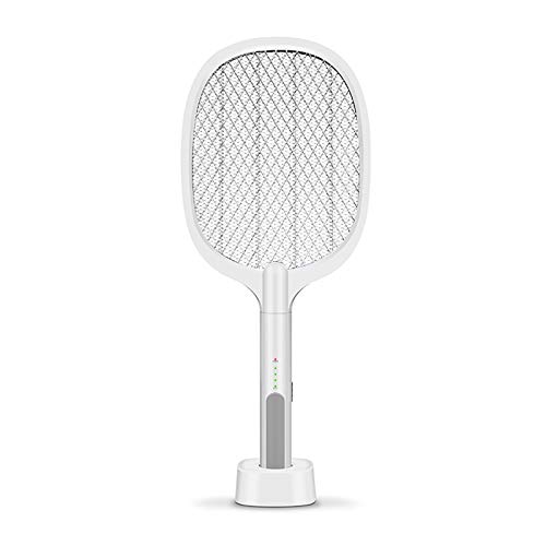 YUDIZWS USB Cargando Mosca mosquitero Mosquito Asesino, Repelente Mosca Raqueta sin Productos químicos, Buena opción para el hogar, Uso al Aire Libre en el Interior,Blanco