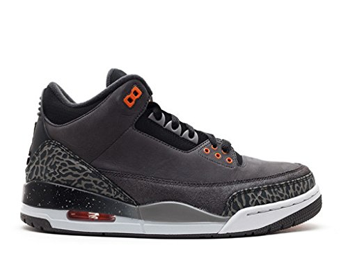 Nike Air Jordan 3 Retro 'Fear Pack' nght stdm/ttl orng blck-ntrl g Trainer Size 7 UK