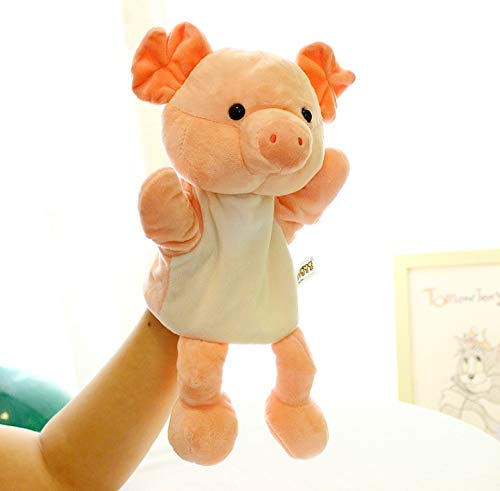 anlala Animal Hand Puppet Cute Cartoon Plush Toy Doll Parent-Child Game Kindergarten Story Props Finger Doll Baby Toy 30Cm Pink Pig