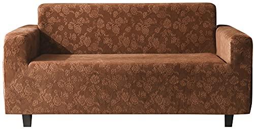 HXTSWGS Funda para sofá de Tela,Funda de sofá de Terciopelo de Cristal, Funda de cojín de sofá Universal (el sofá en Forma de L Necesita Comprar Dos Piezas) -Brown_M