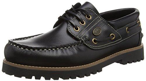Dockers by Gerli Męskie buty na łódź 24dc001-180100, czarny - Czarny Czarny 100-47 EU