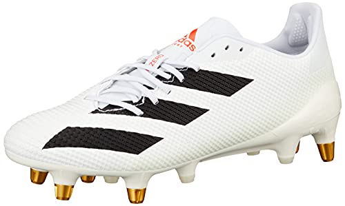 adidas Mens Adizero RS7 SG Rugby Boots White/Black/Red 8.5 UK
