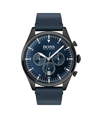 Hugo Boss Herren Chronograph Quartz Uhr mit Leder Armband 1513711