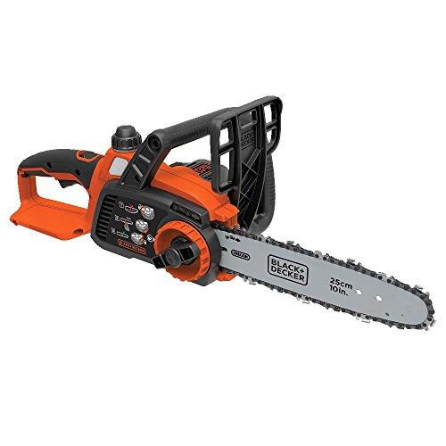 BLACK+DECKER 20V Max Cordless Chainsaw, 10-Inch, Tool Only (LCS1020B)