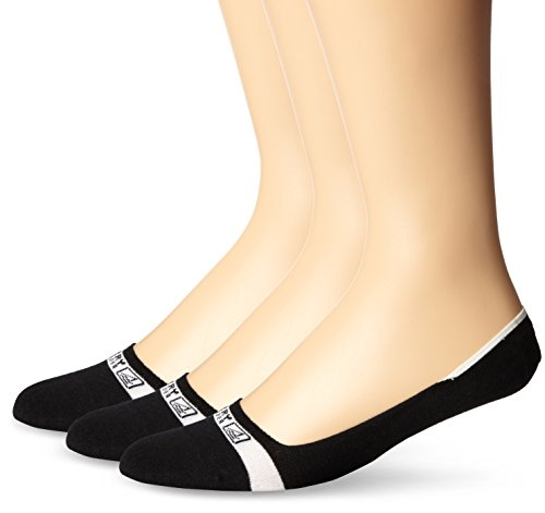 Sperry Top-Sider Men's Signature Invisible Liner Socks, 3 Pair, Black, Shoe Size: 9.5-13
