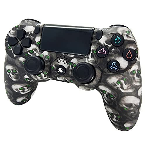 Wireless Controller, USB Controller für PC PS4 Slim/PS4 Pro, Game Bluetooth Gamepad, Six-Achsen Gyro Sensor Dual Vibration with Headphone Touch Panel and Mini LED Display